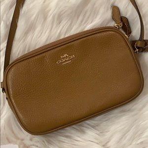 Coach F30259 double zip pouch crossbody bag